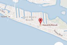 Heavenly Biscuit, Fort Myers Florida / Et sjarmerende lite sted som serverer herlig frokost. Totalt er det kun 5 bord inne og noen til utenfor restauranten. Det kan bli litt kø til frokosten, men det er verdt opplevelsen. Stedet er kjent for sine himmelske kanelboller.