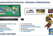 HP Desktops And Laptops / Buy HP Desktop India for HP Desktop computers at best prices in India. Find the best All-in-one HP high performance Desktop PCs at Placewell Retail.