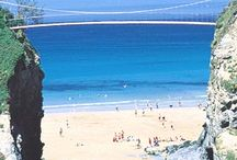 Newquay in Cornwall / The stunning seaside resort of Newquay in Cornwall, UK