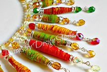 Paper and fabric beads