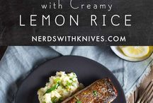 Salmon with Creamy Rice
