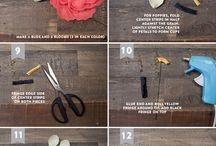 Paper Flowers Project / Tutorials for Paper Flowers - Crepe Paper/Tissue Paper/Felt and more...