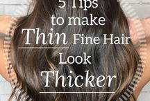 Fine hair