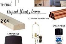 luminária de piso