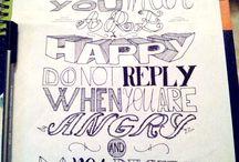 My stuff / Hand-lettering
