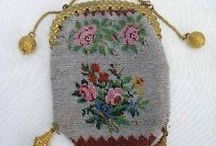 antique beadwork, beaded purses
