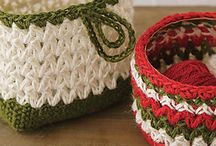 Baskets - crocheted