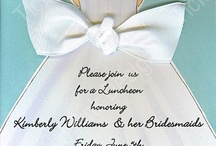 Wedding invitations, place cards,