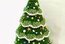 Árvores de Natal em crochê