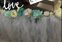 Cool Office Decorating Ideas / I got tired of my bored and old office look so I transformed it to something unique. My office theme is a floral Wedding Theme as most of the items displayed are from my very own wedding (July 2016). I designed every piece you see from the floral tulle table skirt, to the flower assortments, to the painting of the bride.