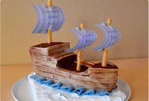 gateau bateau marine