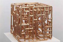 Brass tube art / Kunstwerken van koperen pijp