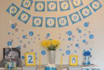 Little man 1 year birthday party / Printable party decoration for 1 year old baby