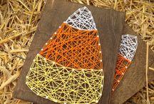 Fall Nail and String Art