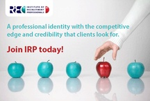 Who are we? / By becoming a member of IRP you will build relationships, improve your skills, gain access to the most up-to-date recruitment knowledge and learn from some of the best in the field. In today's competitive marketplace, an affiliation with a professional association like IRP shows employers that you are serious about your career