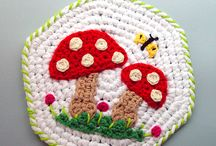 Vintage crochet kitchen potholders.!.!.!