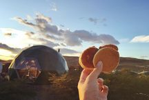Suite domes Baby pancakes for breakfast at our little dome hotel room #patagonia #torresdelpaine