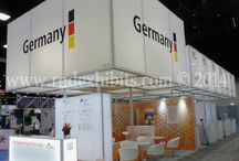 Octanorm Exhibits / Trade show stands and exhibits created mainly from Octanorm extrusions.