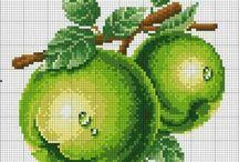 Frutas ponto de cruz