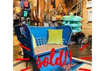 Bohemian Inspired Fashion SOLD!! 1953 Steelbridge upcycled Ferris wheel seat