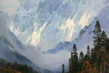 Potok a hory
