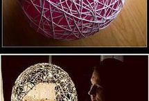 lavori con palloncini e il filo