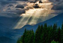 Gewitterwolken - Blitze - Unwettergebilde / gesammelte Photos