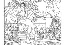 Coloring pages from Dover Publications