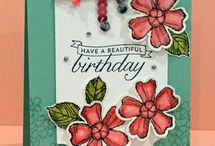 Stampin' Up! Birthday Blossoms / Lovely Stampin' Up! Birthday Blossoms stamp set creations