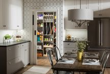 Driftwood Walk-in Pantry by EasyClosets / Pamper the cook in your kitchen with a beautiful walk-in pantry.