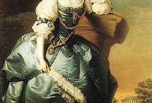18th century dress à la van Dyk