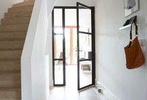 Stalen gang deur