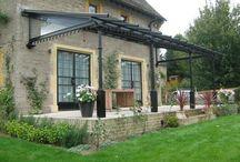 Wrought iron veranda