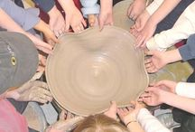 children and clay/art etc