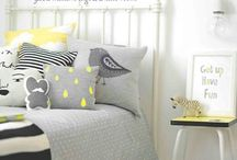 Finns Room / Ideas for black, white and yellow boys room