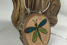 Wood jewellery & pyrography
