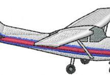 ポーチ 刺繍 飛行機