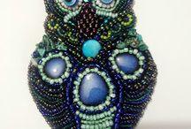 Neckalce/broche Owl