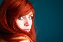 Ginger Pride / As a redhead married to a redhead, I am quite understandably preoccupied with the amazing spectrum of gingerness that exists in the world! So far, these are all lady gingers--I hope many gentlemen will join in the fray as I do by bit to battle for Ginger Pride in a world that doesn't always love this particular gene mutation. Go, Team Ginge!