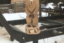chain saw carving Mika