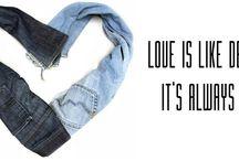 Denim loved by Broekt / Love is like denim, it's allways in!