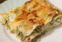le lasagne  con carciofi