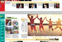 Magazine layout - School yearbook