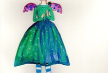one of a kind assembled paper dolls