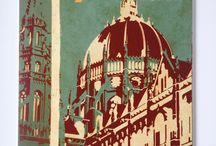 Budapest designs / I Love Budapest. I made some retro tourist art images for canvas and other media. Enjoy.