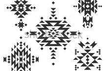 native aztec graphic prints