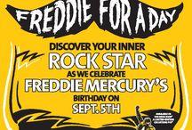 """Freddie For A Day 2015 - 5 Settembre / Ci risiamo finalmente: Hard Rock Cafe con i Queen e il Mercury Phoenix Trust, festeggiano per il terzo anno consecutivo """"Freddie For A Day"""". Il 5 settembre è il compleanno di Freddie Mercury che ci ha lasciati ventiquattro anni fa."""
