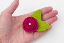 Hair clips / Handmade hair clips from Babes in the Woods