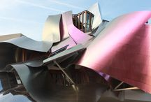 Marques de Riscal and Frank Gehry / Frank Gehry designed hotel and old Rioja winery