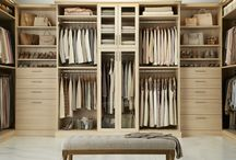 TCS Closets: Satin Oak / TCS Closets is the ultimate custom closet experience you've been waiting for! Whether you choose a walk-in closet design or want something more elaborate, each solution is custom built from the floor up to fit your space and showcase your wardrobe - exclusively for you - and only at The Container Store. / by The Container Store